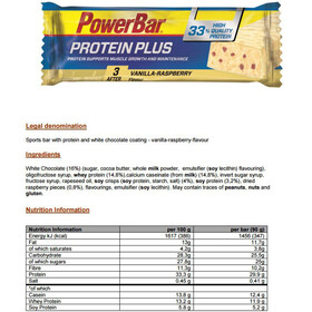 PowerBar ProteinPlus 33% Bar Box 10x90g, Vanilla-Raspberry